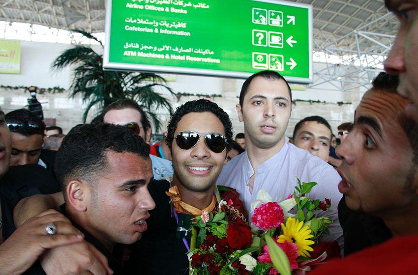 وصول المشترك احمد جمال مطار القاهرة برنامج اراب ايدول الموسم _MG_3323.jpg
