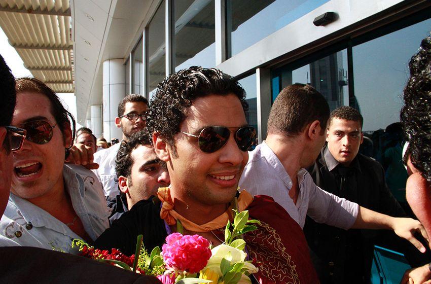 وصول المشترك احمد جمال مطار القاهرة برنامج اراب ايدول الموسم _MG_3331.jpg