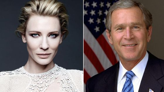 Cate Blanchet and gorge w bush - دمج الصورتين