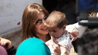 Project Runway S1: Nancy Ajram visiting the refugee camp in Lebanon