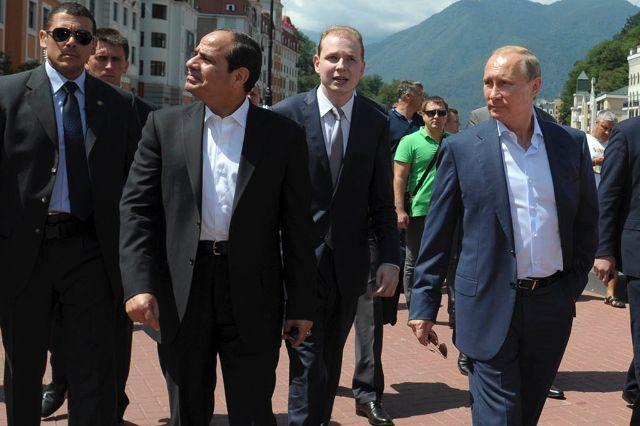 الرئيس السيسي و بوتين في زيارة الرئيس المصري الأخيرة إلى روسيا