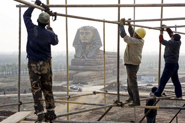 صور ابو الهول الصيني ونسخة طبق الاصل من المصري وتتضرر السياحة المصرية بسببه 2015