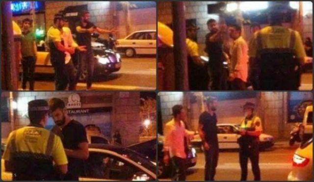 بيكيه يتشاجر مع شرطي