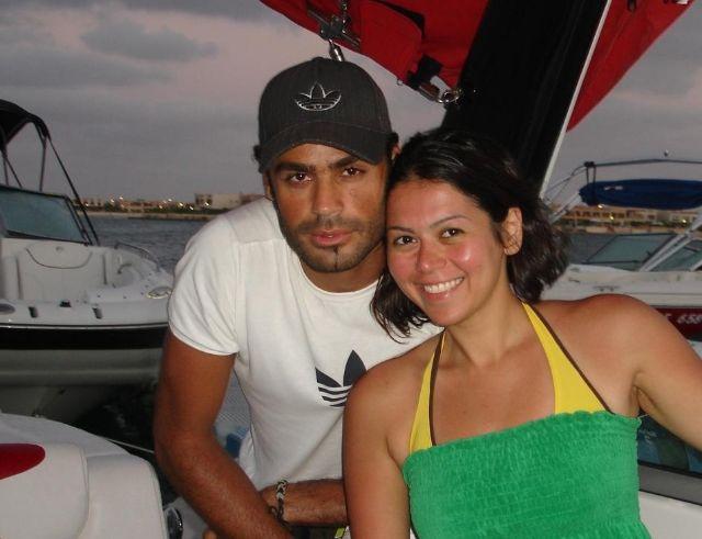 لقاء الخميسي وزوجها اللاعب محمد عبدالمنصف