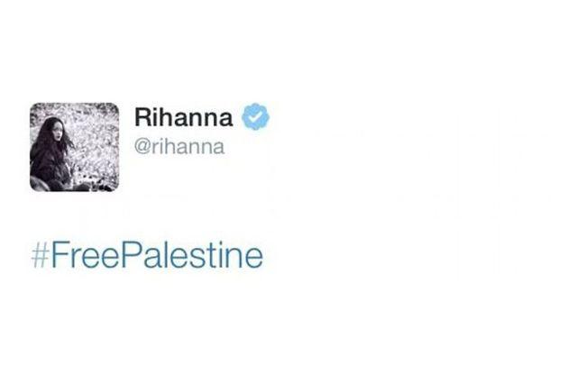 ريانا تدعو إلى تحرير فلسطين قبل الهجوم عليها