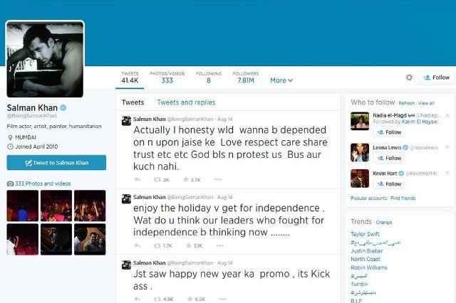 عدد متابعي سلمان خان على تويتر