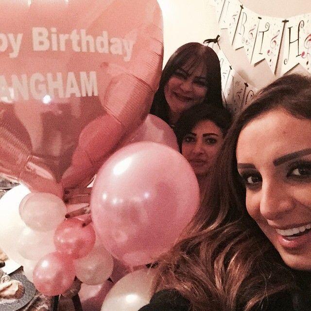 أنغام مع صديقاتها خلال حفل عيد ميلادها