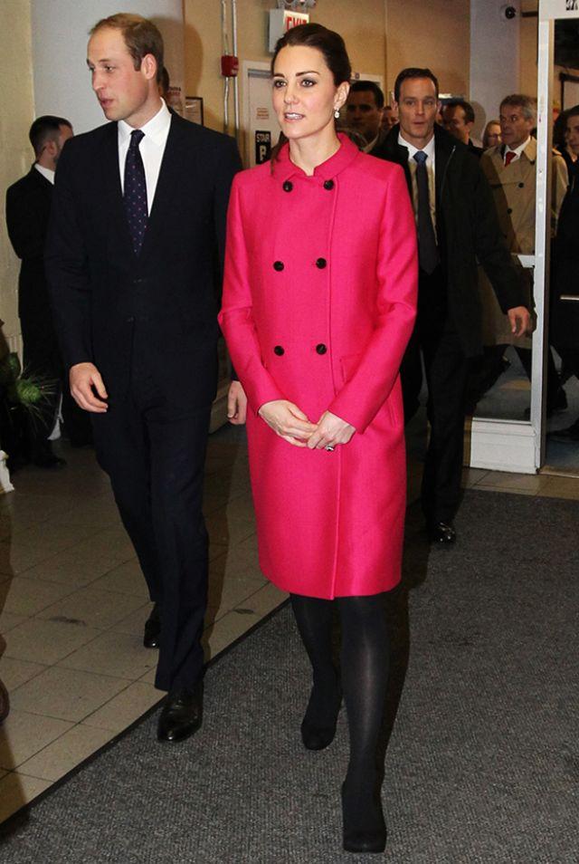 الأمير ويليام والأميرة كيت أثناء زيارتهم أحد المؤسسات الخيرية فى نيويورك