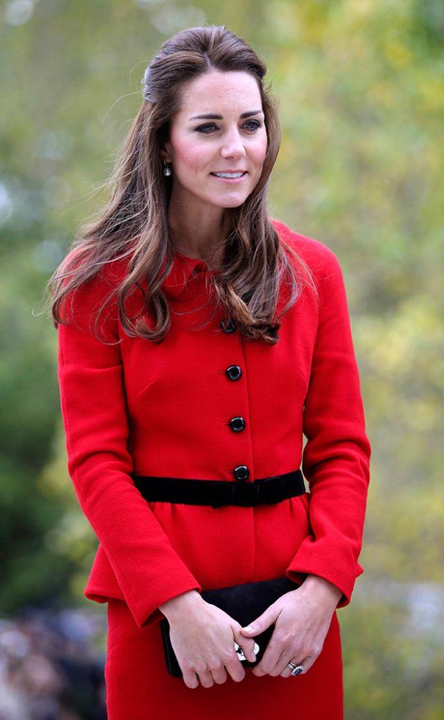 الأميرة كيت أثناء زيارتها لحدائق نيوزيلندا