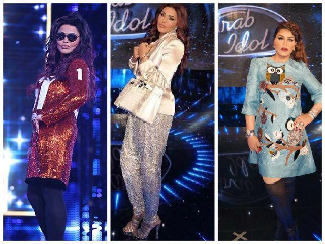 إطلالات أحلام في arab idol