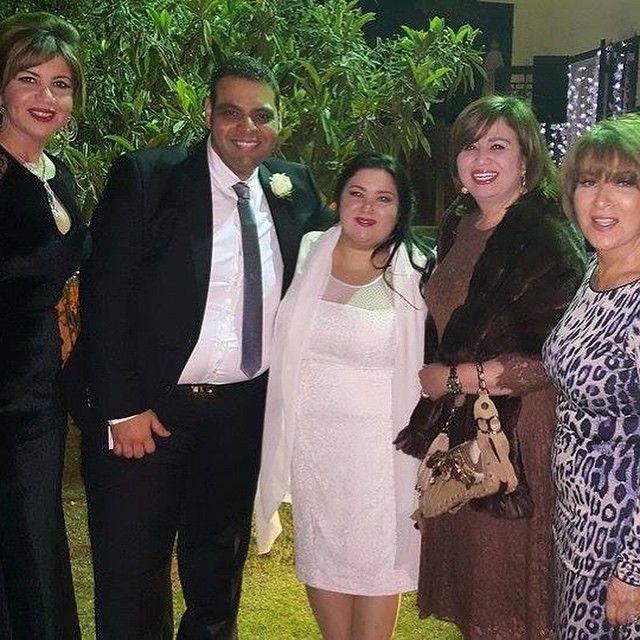 صور زفاف ابنة نور الشريف وبوسي اول صور فرح سارة نور الشريف 2015
