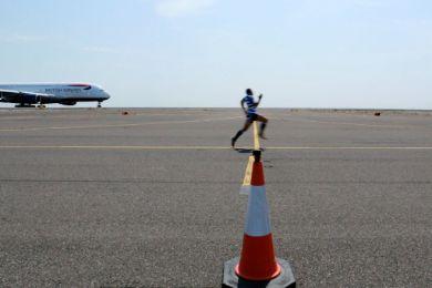 الراجبي الشهير برايان هابانا الطائرة
