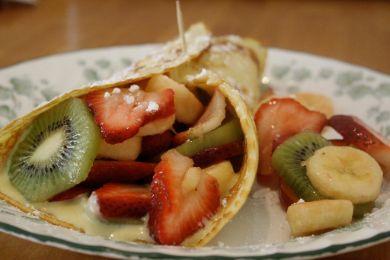 طريقة كريب بفاكهة موسمية