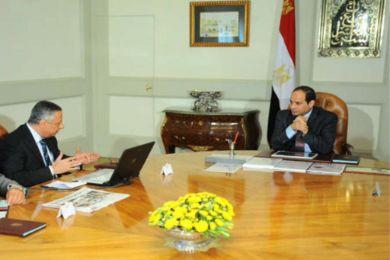 السيسي مع وزير التعليم