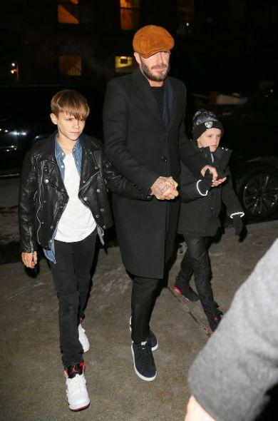 بيكهام مع أولاده