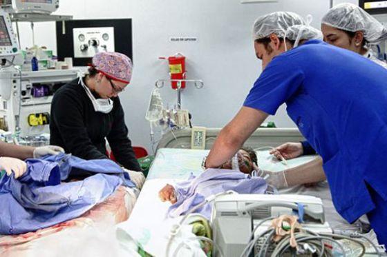 الطفل الكولومبي قبل الجراحة