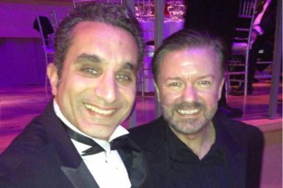 باسم يوسف ينشر صوره في حفل التايم