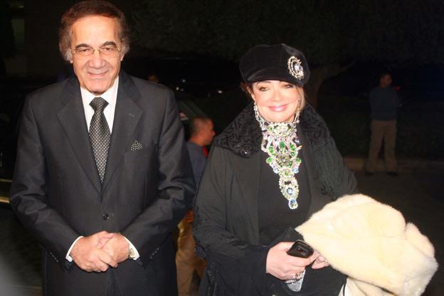 الفنان محمود ياسين وزوجته الفنانة المعتزلة شهيرة