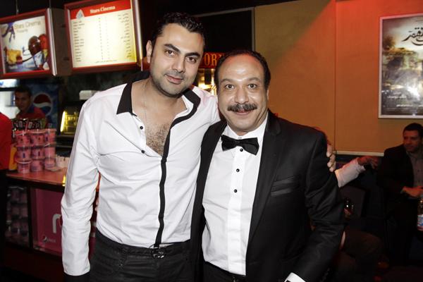 خالد صالح أثناء العرض الخاص لـ
