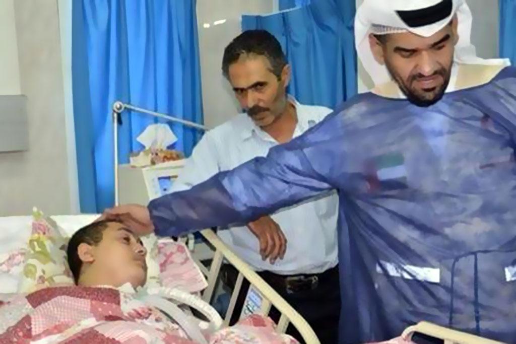 حسين الجسمي يقود قافلة الإمارات لإغاثة مواطني غزة