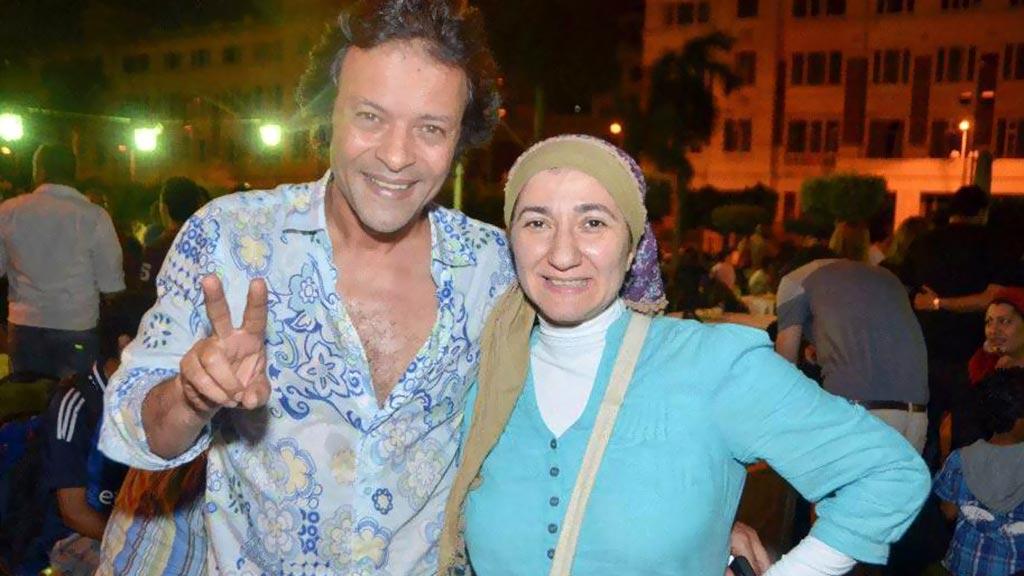 هشام عبد الله وزوجته غادة نجيب