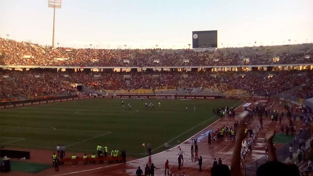 تشجيع جمهور مصر أثناء دخول لاعبى منتخب غانا