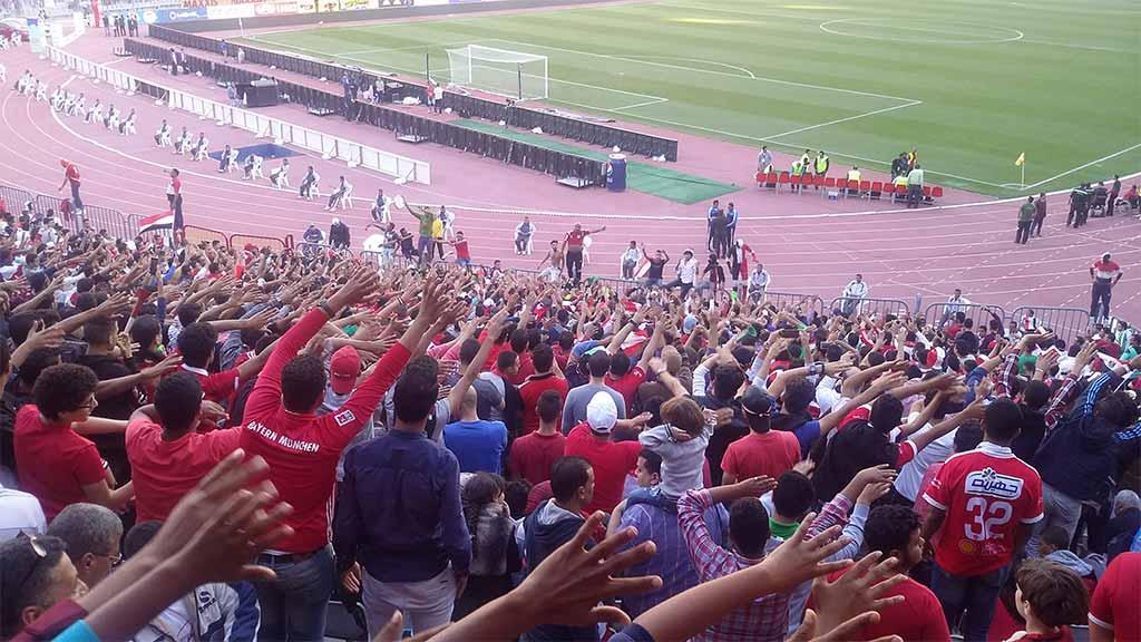 تشجيع جمهور مصر كان مستمرا لساعات