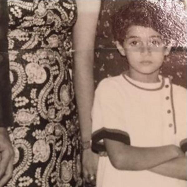 غادة عبد الرازق وهي طفلة