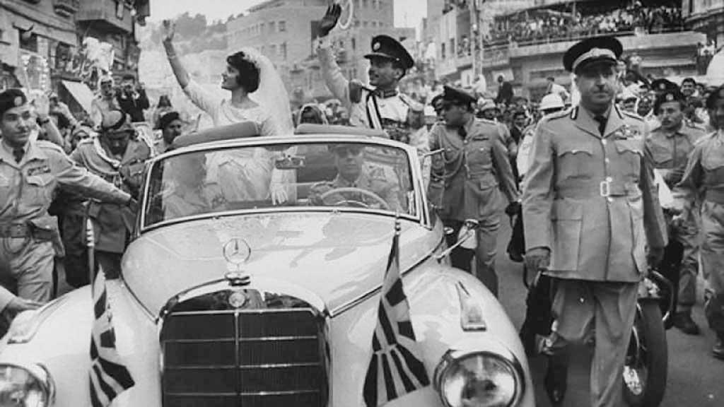 السيارة في زفاف الملك حسين