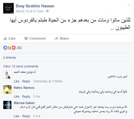 تفاصيل وفاة نورسين الطفلة الملاك بعد فرح خالتها يفجع رواد موقع فيسبوك 4 14/3/2017 - 10:36 م
